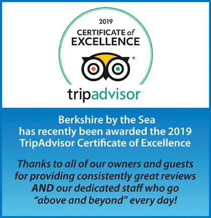 Berkshire by the Sea TripAdvisor 2019 Certificate of Excellence